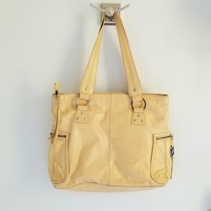 Kenneth Cole leather mustard yellow purse